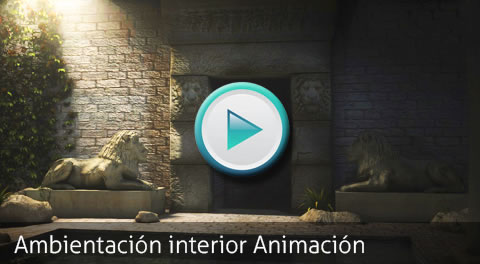 Animation Test. Ambiente interior 3D by Bondiana 3D Models.